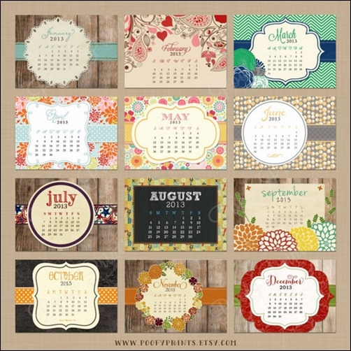 Unique Table Calendar Design : Cool and unique calendar designs creative