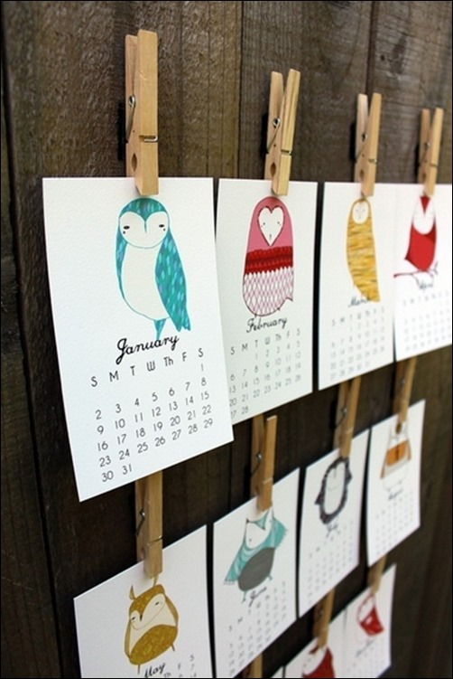 Handmade Calendar Design : Cool and unique calendar designs creative